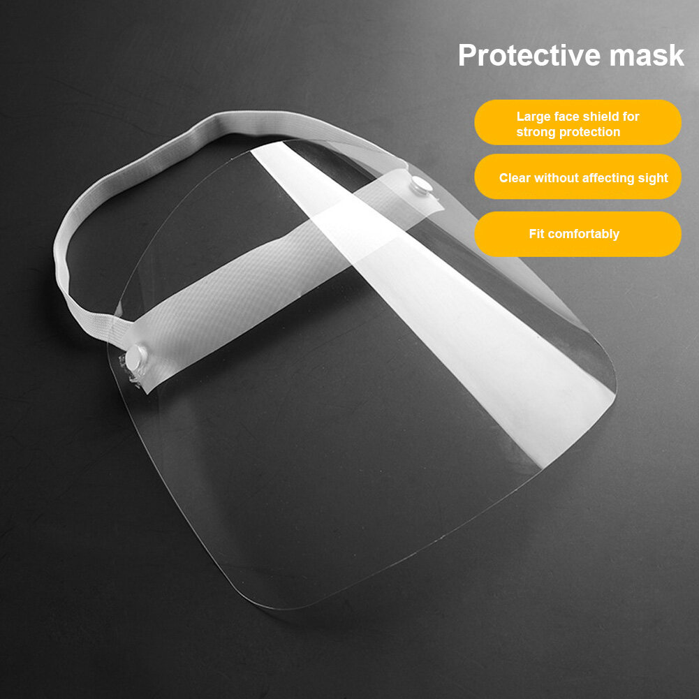 Full Face Dust-Proof Transparent Mask Anti-Droplet Kitchen Cooking Visor Shield