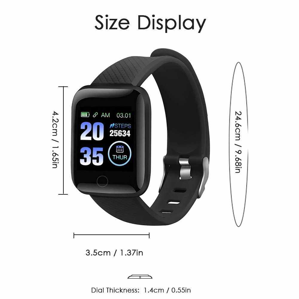 Best Selling Smart Bracelet Sports Watch 1.3-Inch TFT Screen BT4.0 Fitness Tracker IP67 Waterproof Sleep/Heart Rate/Blood Pressure Monitor Pedometer Multiple Sports Mode Notification/Call/Sedentary Reminder Remote Camera Compatible with Android iOS (Purp