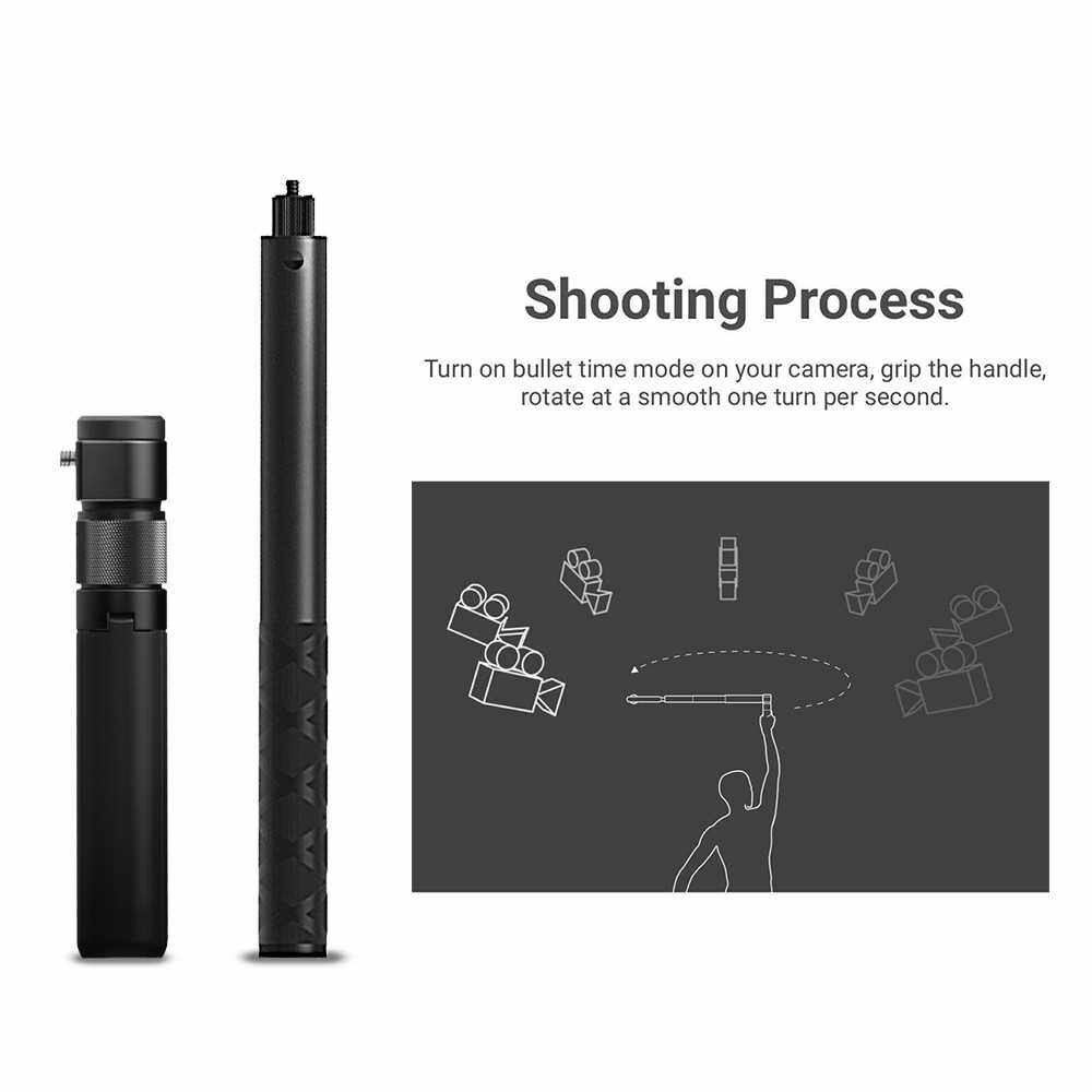 People's Choice Photography Bullet Time Bundle Extension Rod Invisible Selfie Pole Folded Tripod Handle 28cm-111cm Adjustable Length Bullet Time Shooting Kit Compatible with Insta360 ONE X / ONE R Series Camera (Standard)