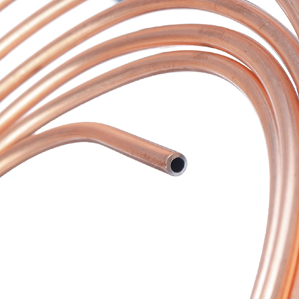 Automotive Tools & Equipment - Copper Nickel Brake Line Tubing 25ft Roll Tube Coil of 3/16 OD Copper Brake Pipe Hose Line Piping - Car Replacement Parts