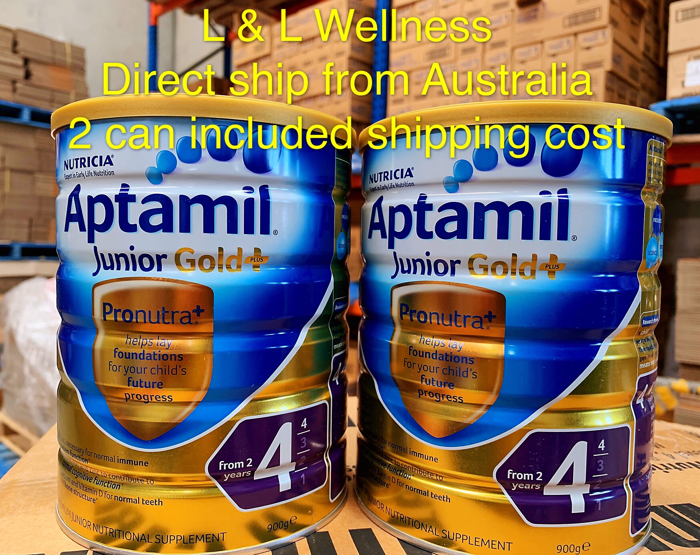 [Pre Order] Australia import Aptamill Gold+ Formula Step 4(from 3 years +) 900g in Twin Pack