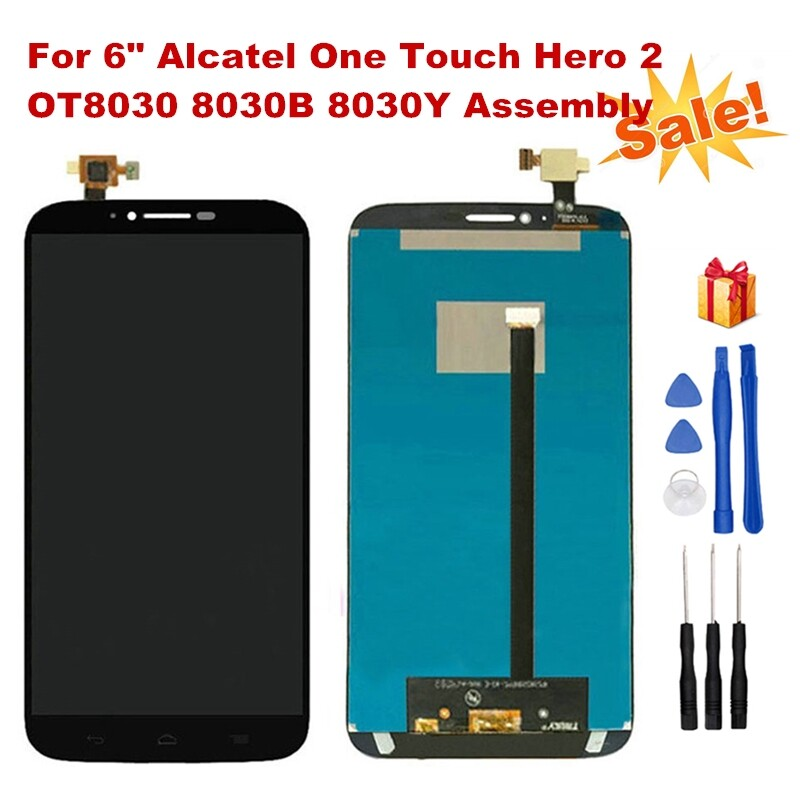 For 6 Alcatel One Touch Hero 2 8030 LCD Display+Touch Screen Digitizer Assembly