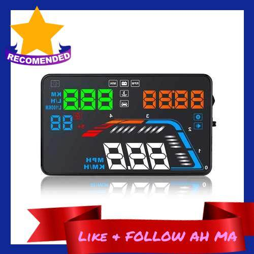Best Selling Car HUD Projector Multi Function Speedometer Over Speed Voltage Alarm ()