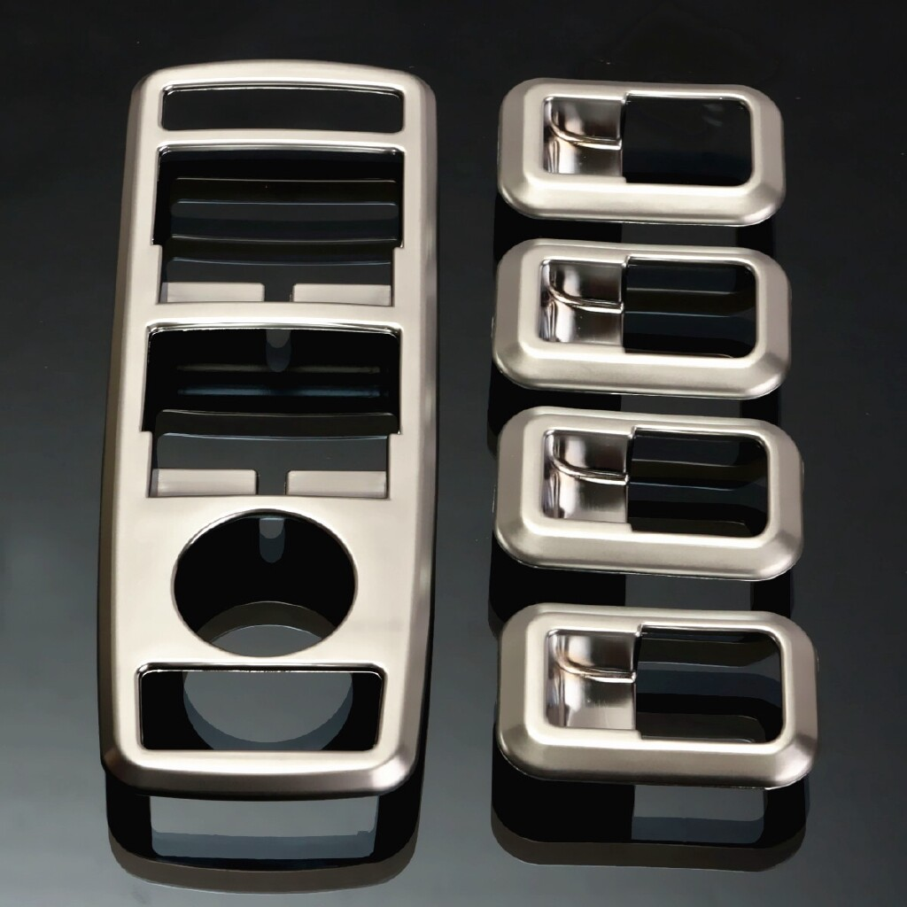 Tyres & Wheels - Chrome Door Window Switch Panel Cover Trim For BENZ G500 GL X166 ML W166 GLK - Car Replacement Parts