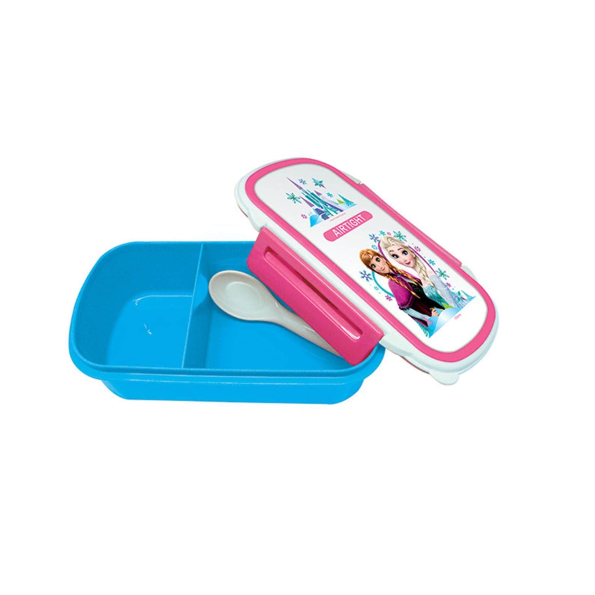 Disney Frozen Lunch Box With Spoon Set - Blue Colour