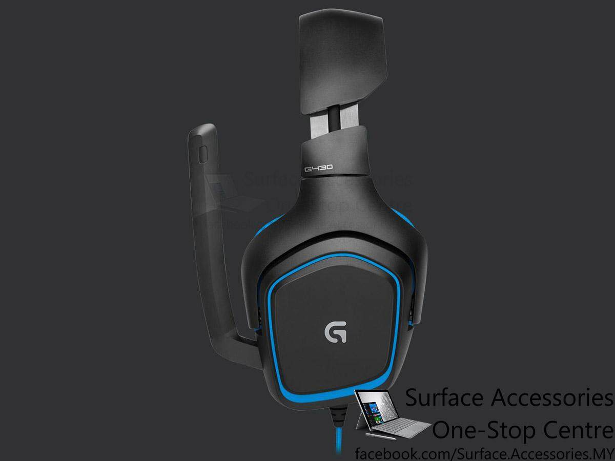 [MALAYSIA]Logitech G430 7.1 Surround Gaming Headset (981-00536) DTS Headphone Dolby Surround Sound Headphone Noise Cancelling Microphone USB DAC Headset Over Ear Headphone