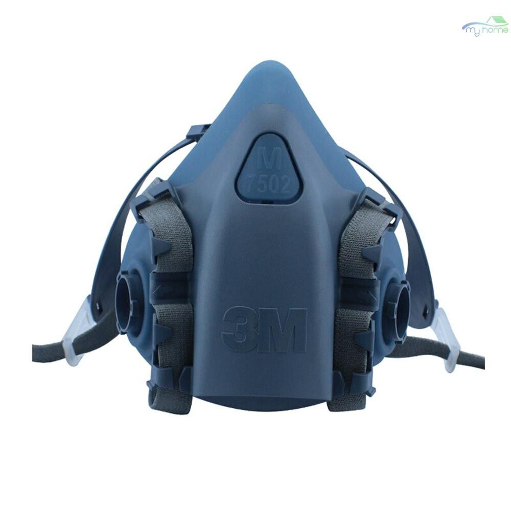 Protective Clothing & Equipment - 3M 7502 Half Facepiece Respirator Organic Vapor Respiratory Protection Anti Dust PM2.5 Mask Prevent - BLUE