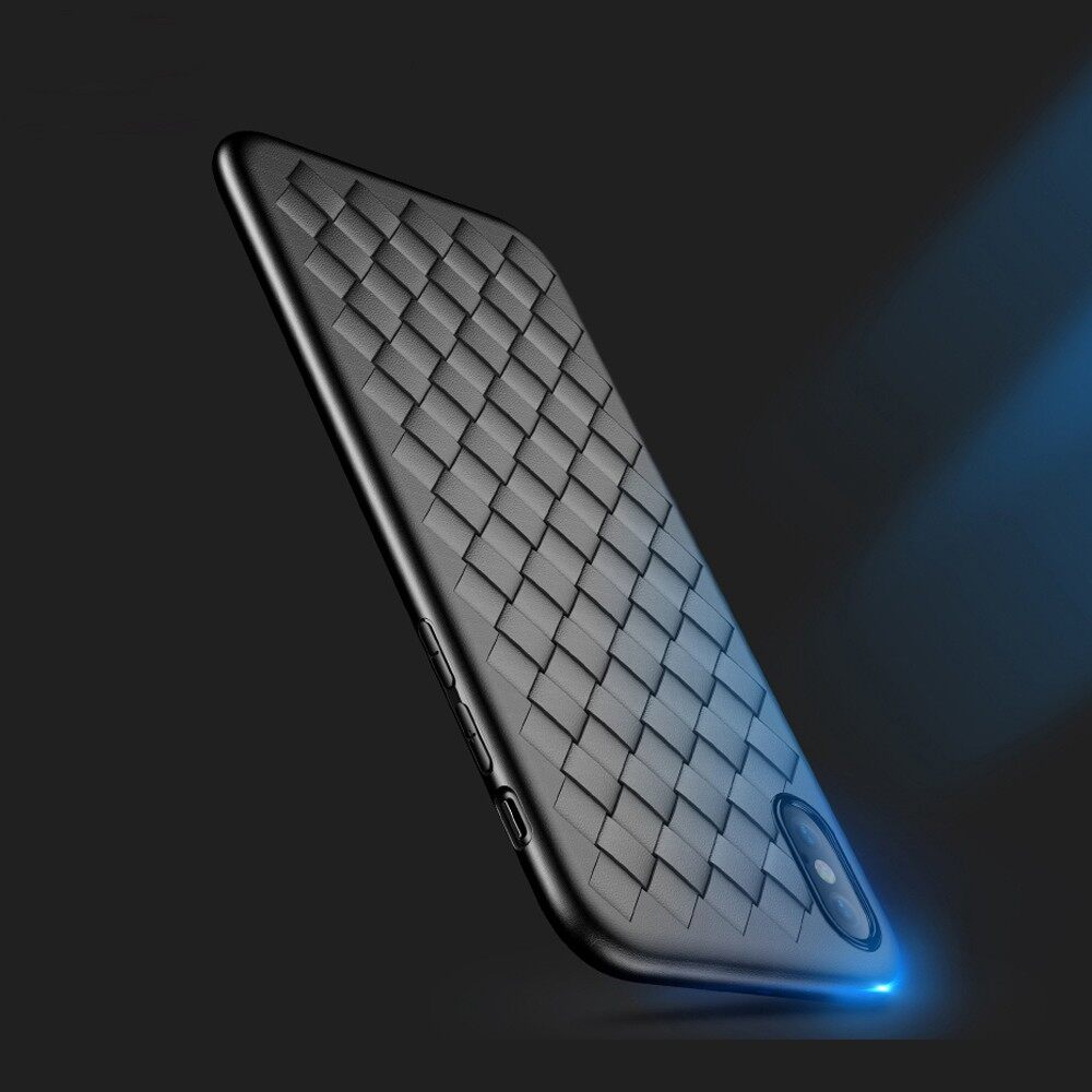 iPh Soft Cover - Protective Case For iPh XR/XS/XS Max Woven Soft TPU Back Cover - XS MAX / XR / XS