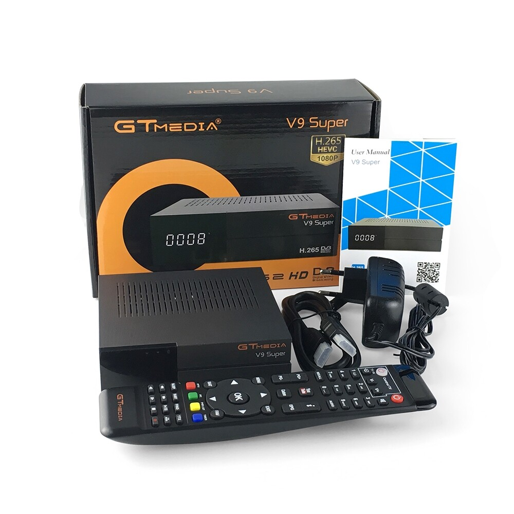 TV Boxes & Players - GTMedia V9 Super DVB-S2/S Satellite Receiver Bult-in WiFi Support Cccam - Accessories