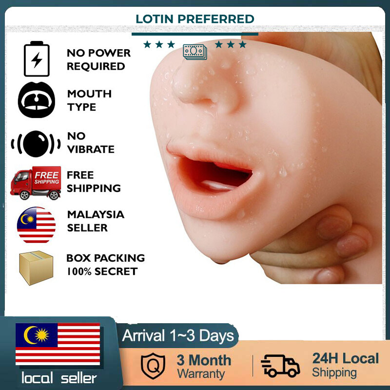 【READY STOCK】Male Masturbator Cup For Men Mouth Deep Throat Oral Sex Climax Orgasm Real Experience Sex Toy Alat Seks Lelaki sex toy for boys alat sex untuk puas kan lelaki