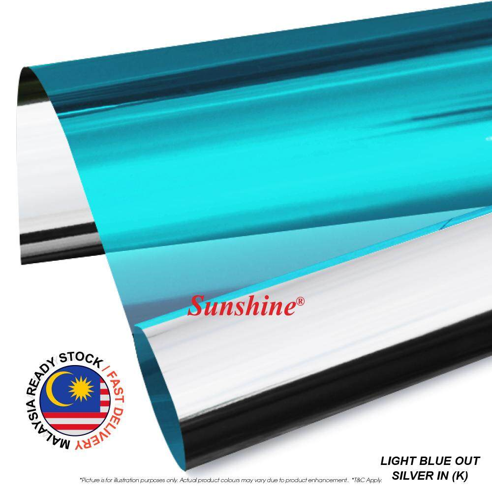Window Film For House 【30cmX150cm】Dark Green Out, Silver in (K) Small Cut film, One Way Mirror Daytime Privacy Window Sticker, Heat Control Anti UV Window Tint for Home and Office