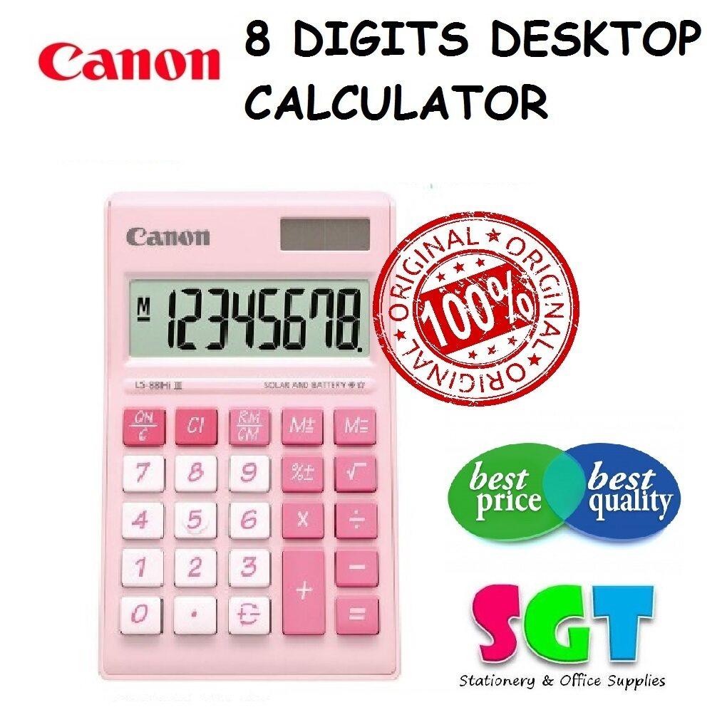 CANON Desktop Calculator LS-88Hi III (Pastel Pink)