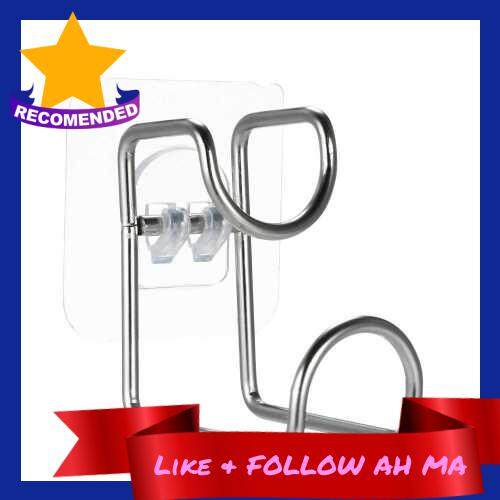Best Selling Stainless Steel Strong Adhesive Hooks Waterproof Wall Hook Superglue Washbasin Holder Basin Hanger Sticky Hooks Wall Adhesive Hook with Stickers for Kitchen Vegetable Basin Bathroom Wash Basin Wash Foot Basin (Standard)