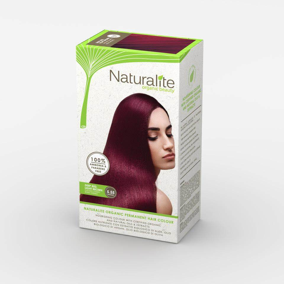 NATURALITE HAIR COLOUR 5.55 [DEEP RED LIGHT BROWN]