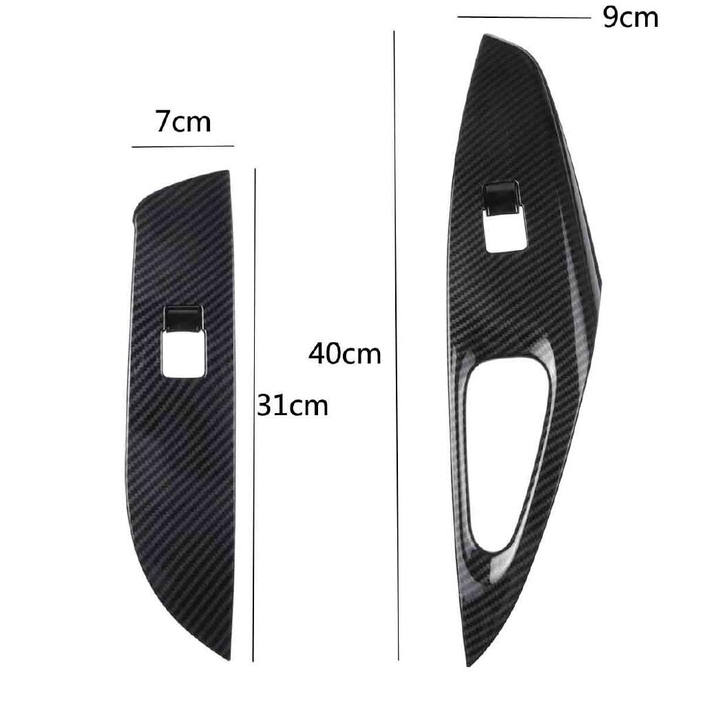 Car Stickers - A SET 4 PIECE(s) Window Lift Switch Panel Trim For Toyota Corolla -2020 Carbon Fiber Car Window Lift - Accessories