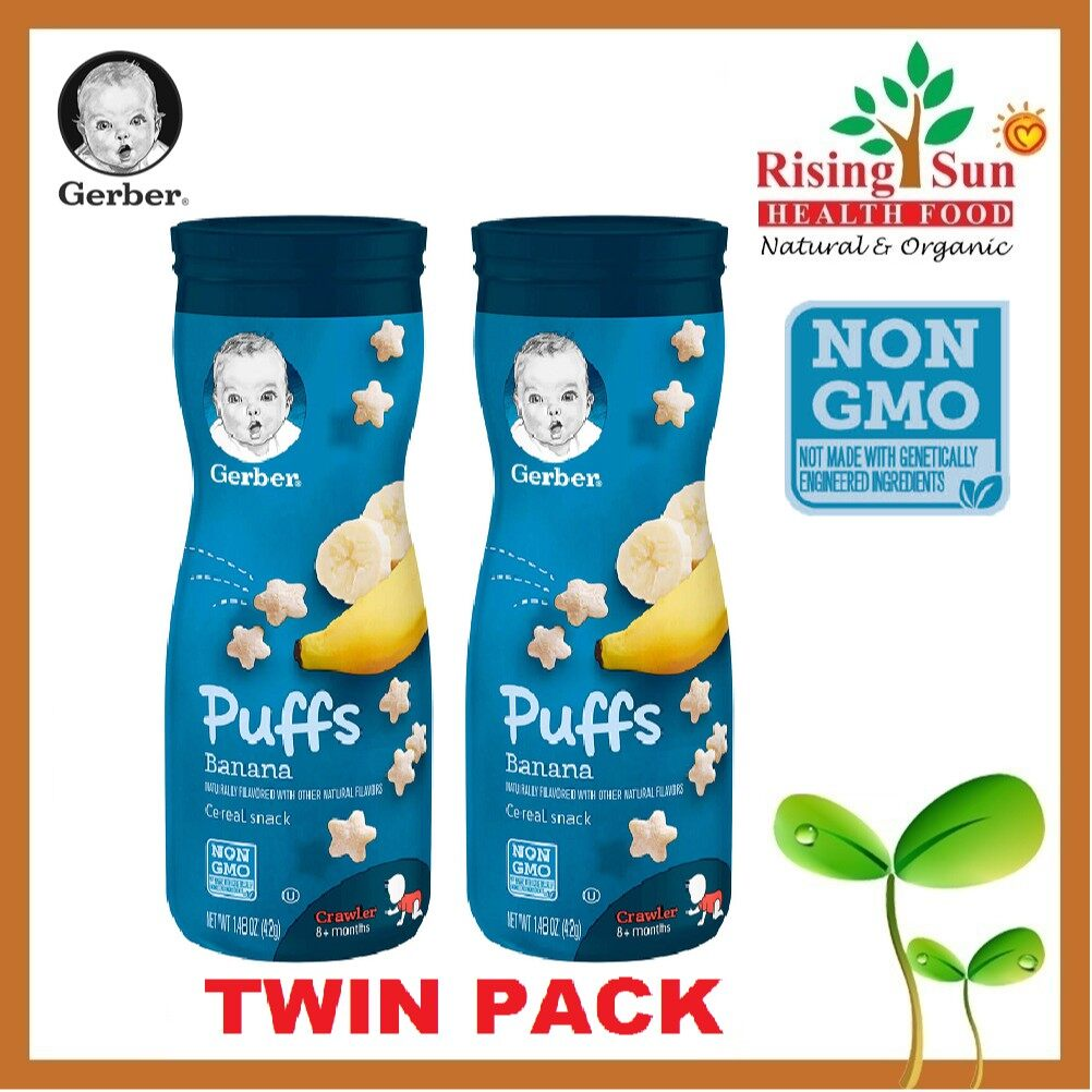 Gerber Puffs Cereal Snack Banana (42g / 1.48 OZ x 2) - TWIN PACK