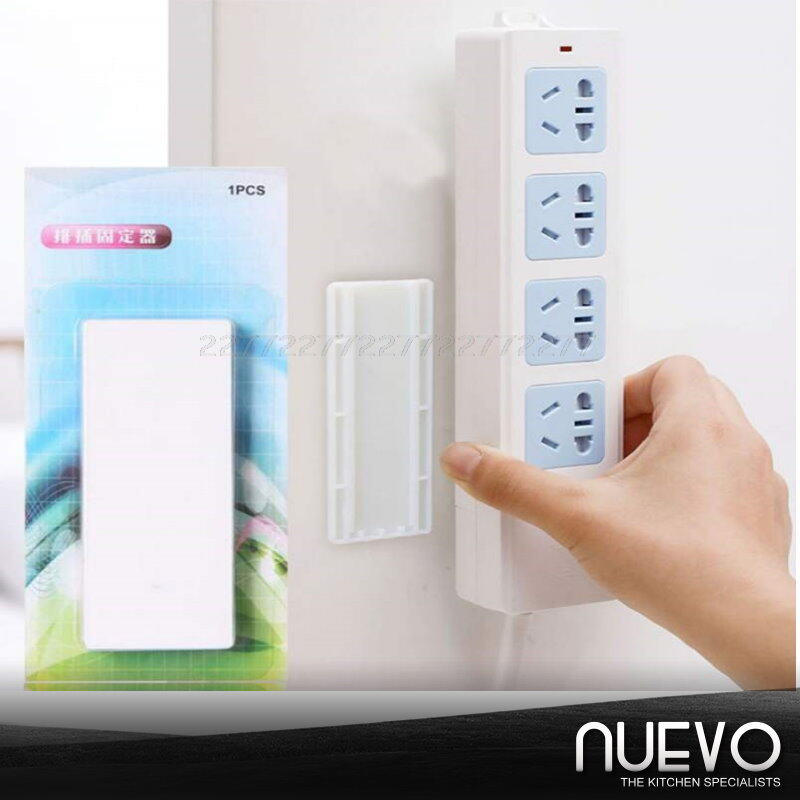 Self-adhesive socket fixer  Wall outlet fixer, wall mount, no punch, adhesive outlet, home, cable wire organizer