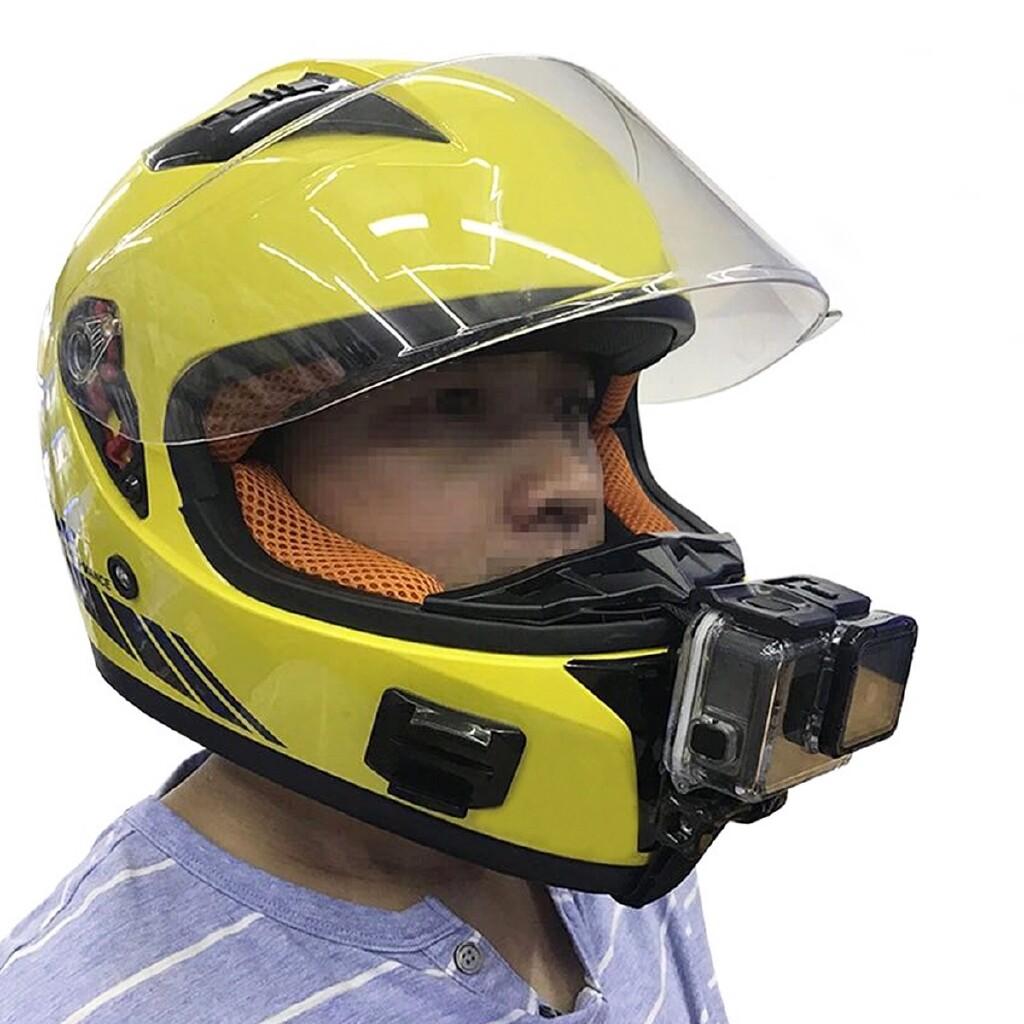Moto Helmets - GoPro Hero SJCAM All Action Camera Motorcycle Full Face Helmet Chin Mount - Motorcycles, Parts & Accessories