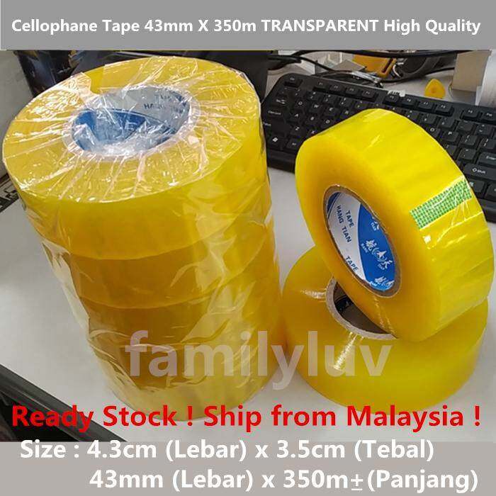 High Quality Transparent Cellophane Express Packing Tape Size : 43 mm x 350 Meter X 5 Rolls