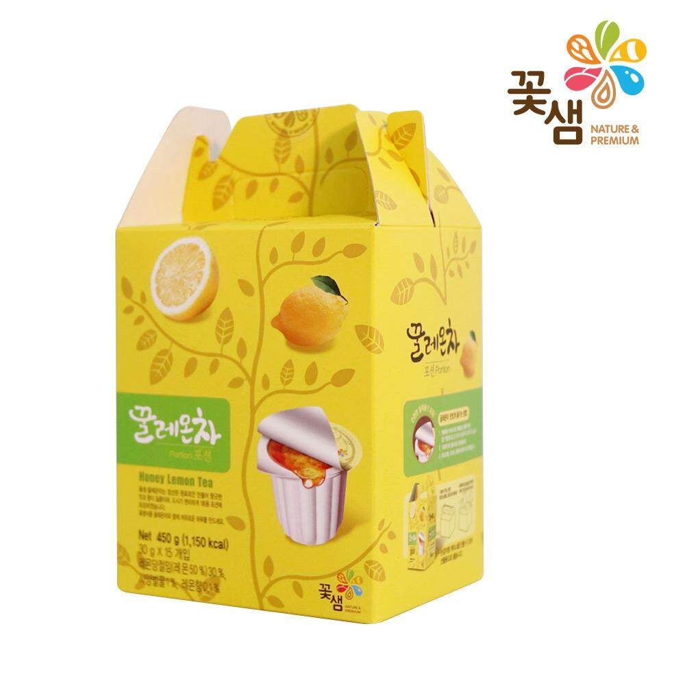 Kkoh Shaem Korea Honey Lemon Tea (15 Capsules). Also Available: Honey Citron Tea / Honey Grapefruit Tea (korea tea, fruit tea, lemonade, , , )