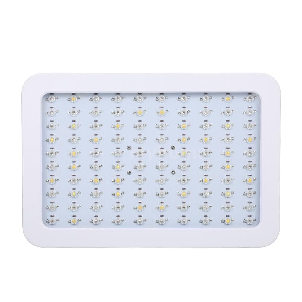 Lighting - AC85-265V 1000W 100 LED 5130LM Plant Growth Lamp Flora Growing Light Slim Design with Hanging Kit - Home & Living
