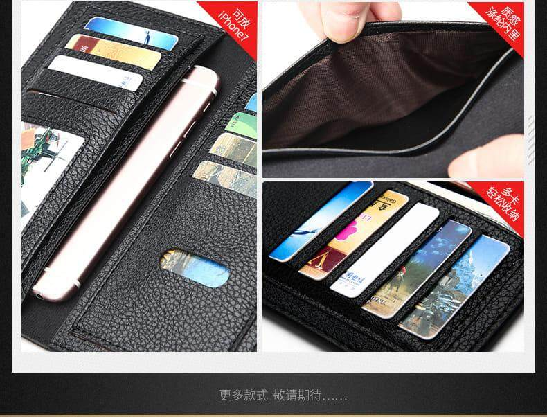 [M'sia Warehouse Direct] 100% Cowhide Leather / PU Leather 2019 Korean Series Men's Fashion Multifunctional Long Purse Fengshui Portable Long Wallet With Clutch Card Coin ID Lightweight Hand Carry Bag Perfect Gift For Love One Dompet Panjang Kulit Halal