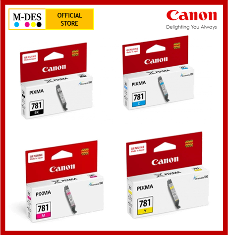 Canon PGI-780 CLI-781 Black Cyan Magenta Yellow TS8170 TS9170