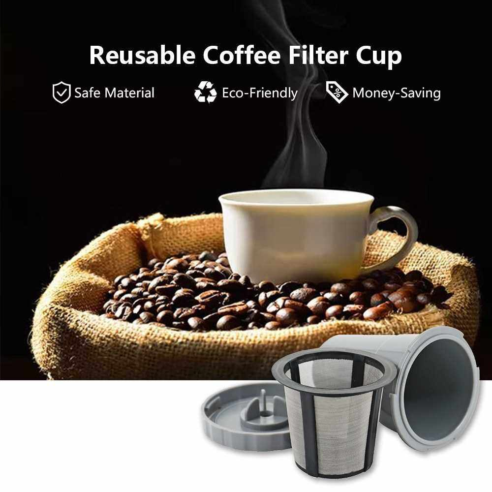 3 PCS Reusable Coffee Filter Cups with Spoon and Cleaning Brush Refillable K Cup Pods Coffee Capsule for Coffee Brewing Machine Replacement for Keurig 1.0 Serires (Standard)