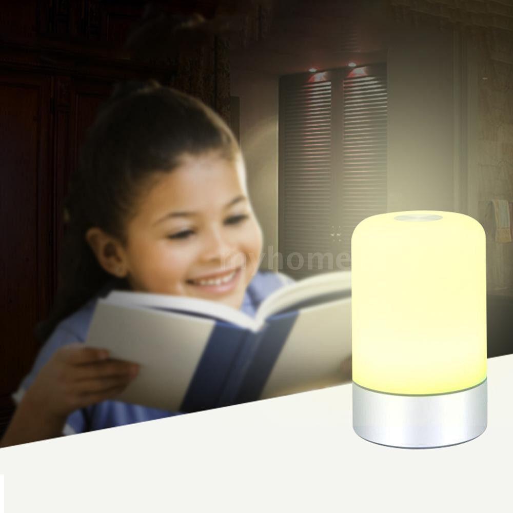 Lighting - DC5V 3.5W Touch Sensor LED Desk Lamp Night Light USB Powered 3 Levels Adjustable Brightness - MULTICOLOR