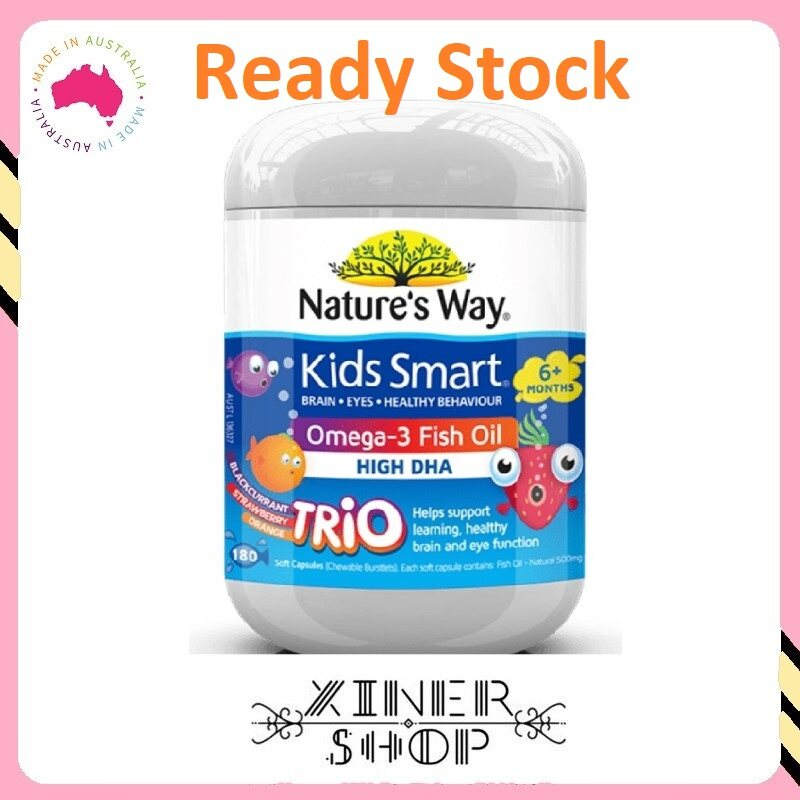 [Ready Stock EXP Date: 01/2023] Nature's Way Kids Smart Omega3 Fish Oil Trio ( 180 Capsules ) (Made In Australia)