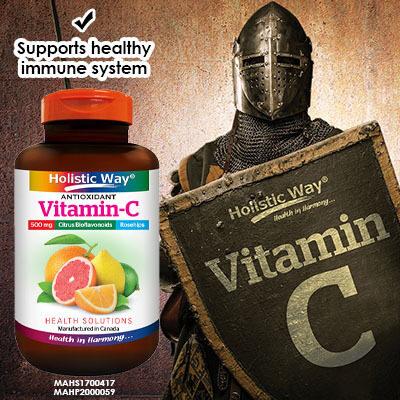?Holistic Way Antioxidant Vitamin-C 500mg C (100 Caplets)