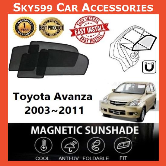Toyota Avanza 2003-2011 Magnetic Sunshade [6 PCS]