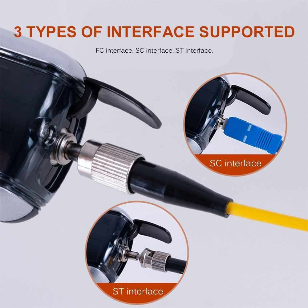 Handheld Optical Power Meter -70~+3dBm Rechargeable Optical Power Tester Portable Digital Mini Light Power Meter with 7 Optional Optic Wavelength (Standard)