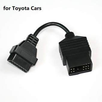 Auto 17 Pin to Male 16 Pin Adapter Connector OBD2 Cars Diagnostic Cable