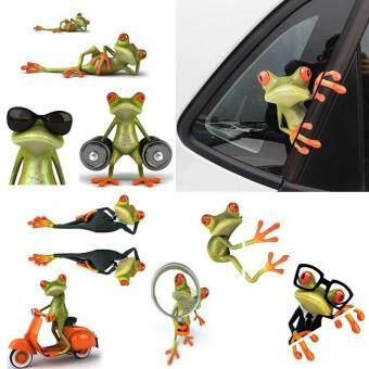 1PCS funny house lizard 3D car stereo feeling car stickers car frog Wall Sticker Random style