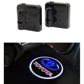 2 x Wireless LED Car Door Logo Projector Welcome Ghost Shadow Light For TO*YOTA