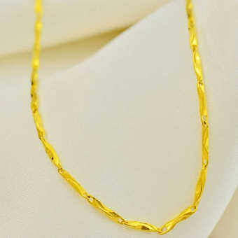24k festive not model celebrity inspired gold plated necklace