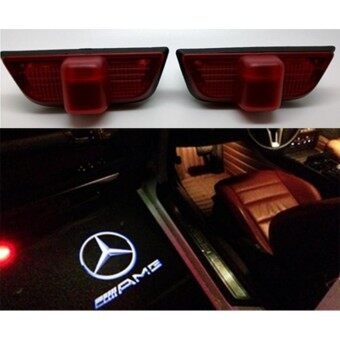 2x LED Door Step Courtesy Shadow Laser Light for C-Class AMG 2008-2014
