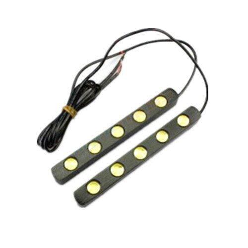 2x Universal White 5 LED Car 12V Daytime Running Light DRL Fog Day Driving LAMP