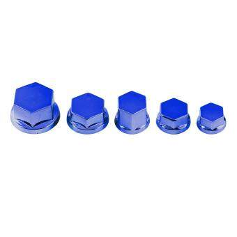 Harga 30Pcs Motorcycle Motorbike Screw Nut Bolt Cap Cover Decoration ForYamaha Kawasaki Honda(Blue)