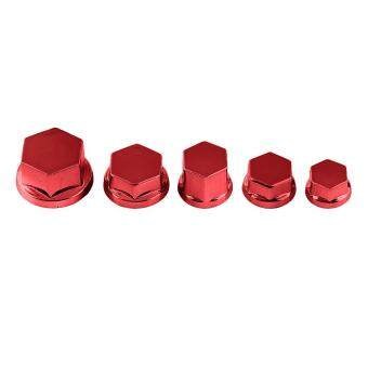 Harga 30Pcs Motorcycle Motorbike Screw Nut Bolt Cap Cover Decoration ForYamaha Kawasaki Honda(Red)