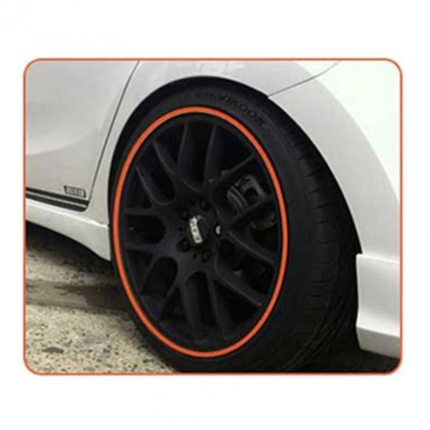 8M Vehicle Car Tuning Alloy Wheel Rim Protectors Tire Guard Line Rubber Moulding-Orange