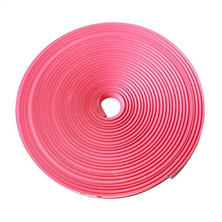 8M Vehicle Car Tuning Alloy Wheel Rim Protectors Tire Guard Line Rubber Moulding-Pink