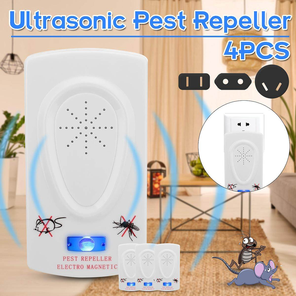 Buy Generic 4pcs Ultrasonic Pest Mouse Repeller Mosquito Fly Circuit Because They Will Get Away From Their Living Place After The Attack Of 3 Please Read Other Caution On Package Box Before Using