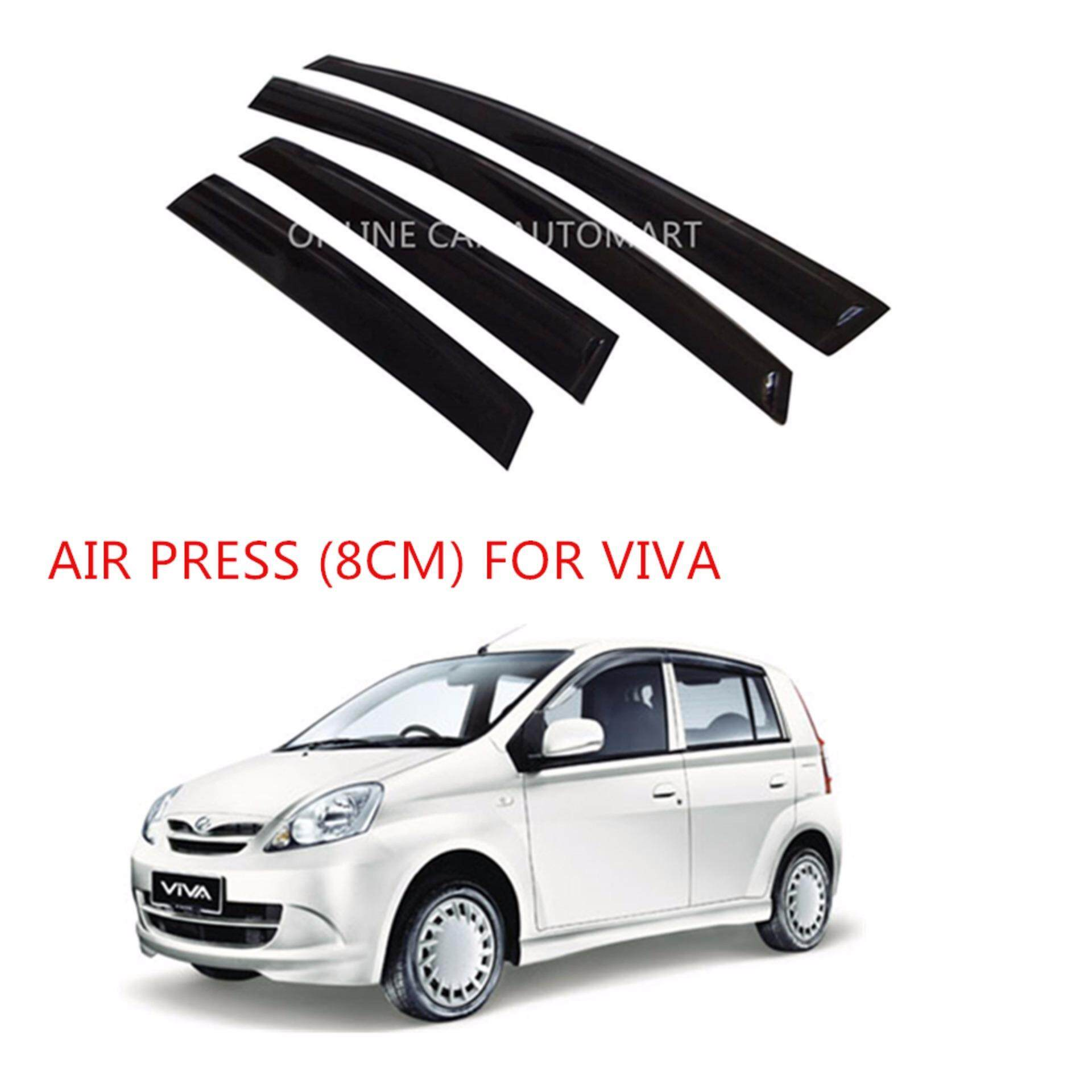 [CNY 2020] Air Press Car Window Door Visor Wind Deflector Anti UV Light 8cm (4PCS/SET) for Perodua Viva