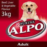 ALPO® Beef, Liver & Vegetable Flavour Dry Adult Dog Food Pack (1 x 3kg) - Pet Food/ Dry Food/ Dog Food/ Makanan Anjing