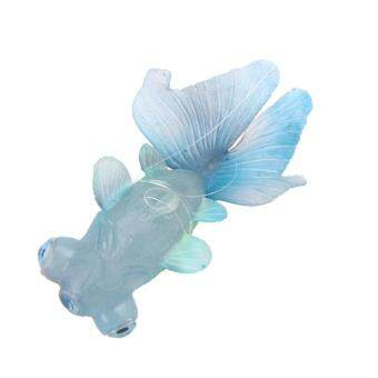 Harga Artificial Silicone Swim Electronic Robofish Toy Fish RoboticFishing Tank (Blue)