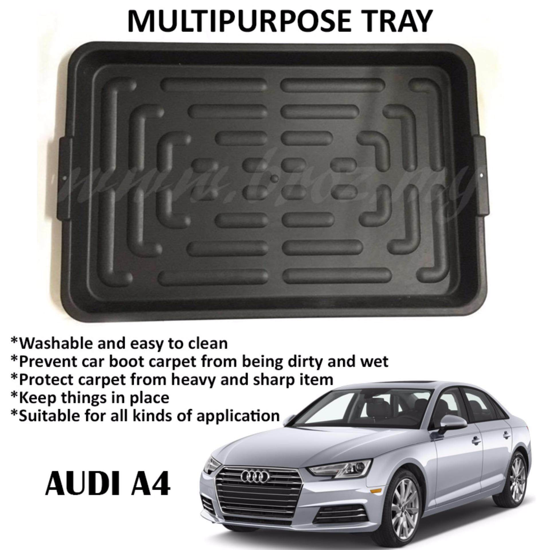 Audi A4 Multipurpose Universal One Tray For All Purpose - For Car Rear Boot (90 x 59 x 6.5cm)