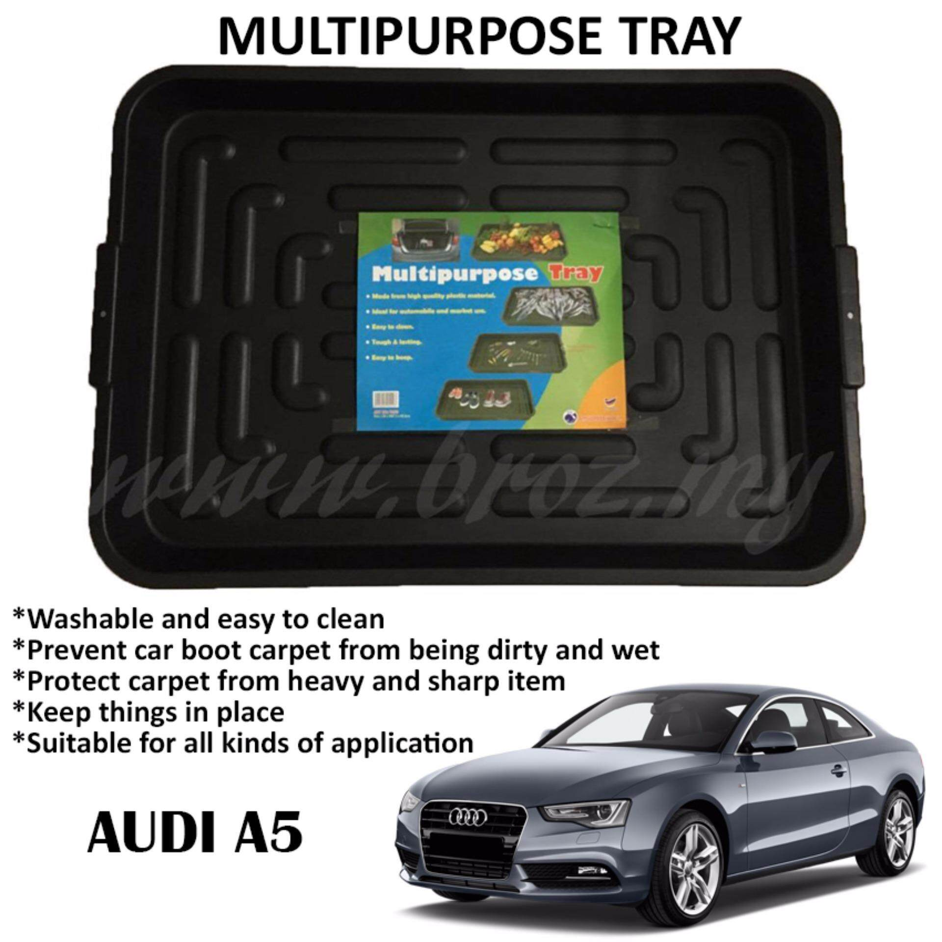 Audi A5 Multipurpose Universal One Tray For All Purpose - For Car Rear Boot (97 x 67.5 x 8.5cm)