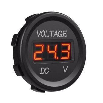 Auto Car Digital LED Waterproof Voltmeter Mini Volt Panel Meter Gauge 12V-24V